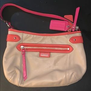 Small leather coach bag